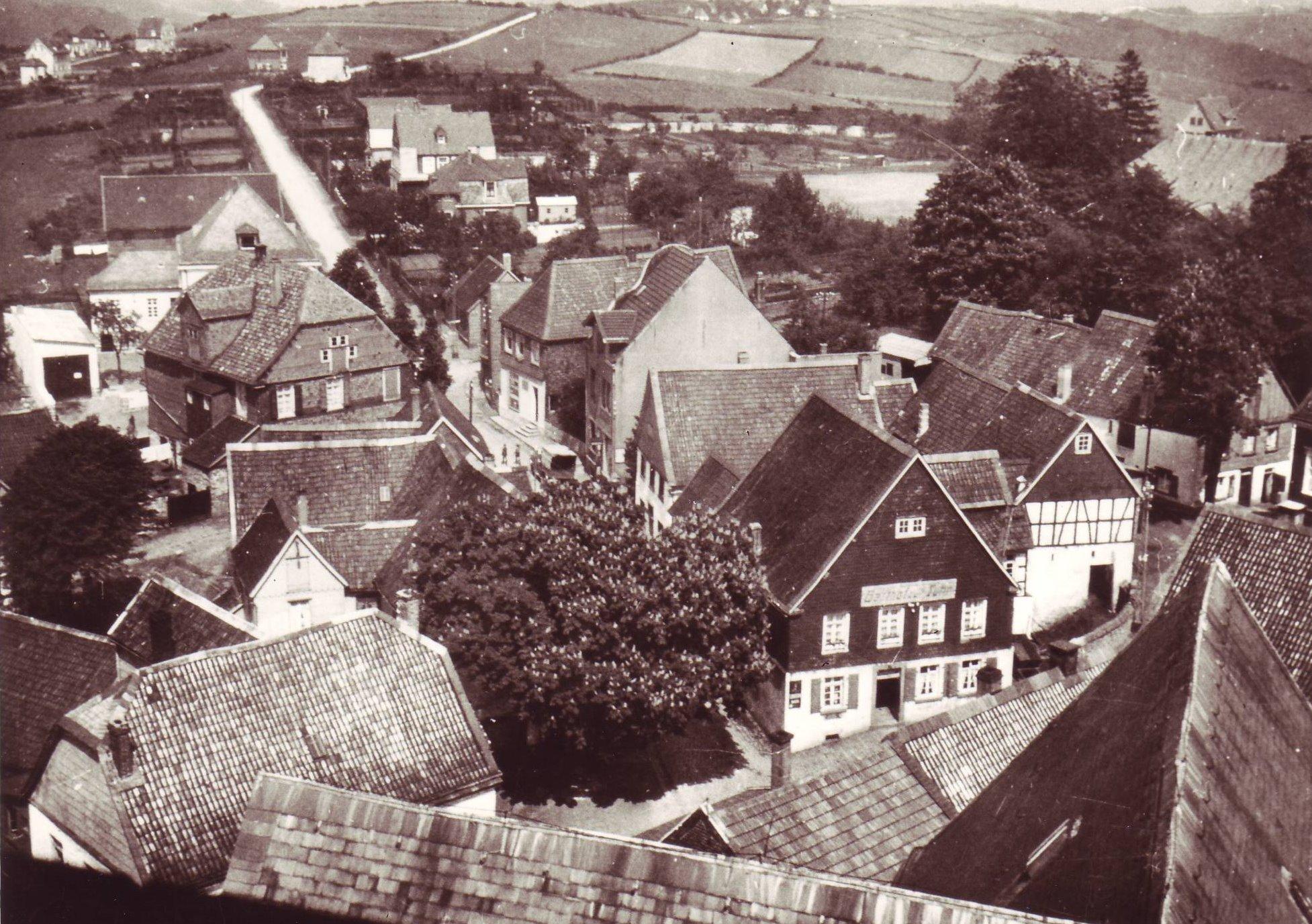Blick auf die Schmiedestraße und Epscheider Straße