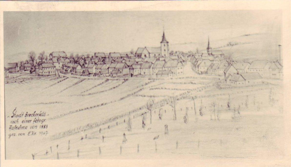 Zeichnung nach einer fotogr. Aufnahme von 1883