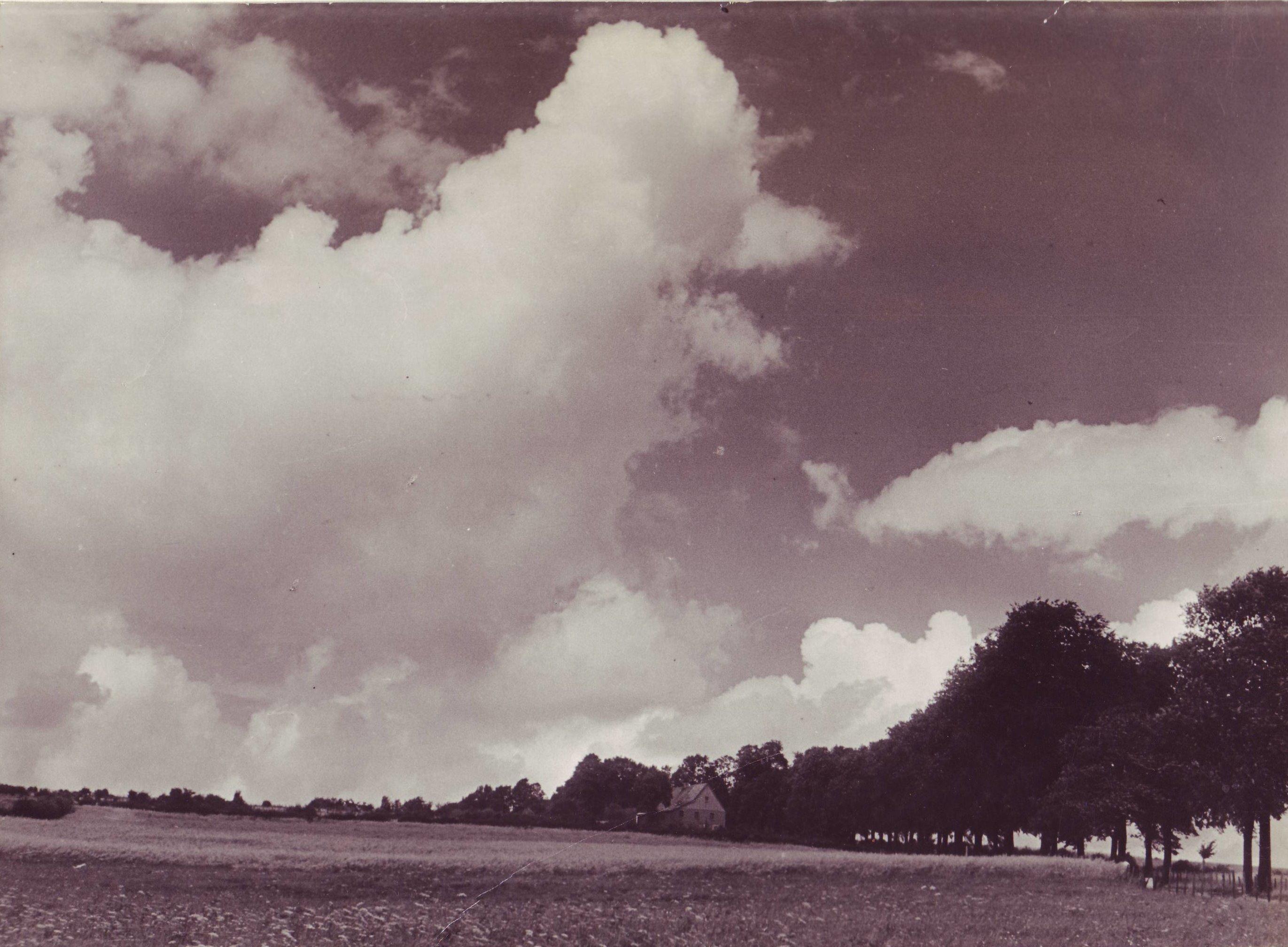 Königsheide mit Haus Nickel um 1945