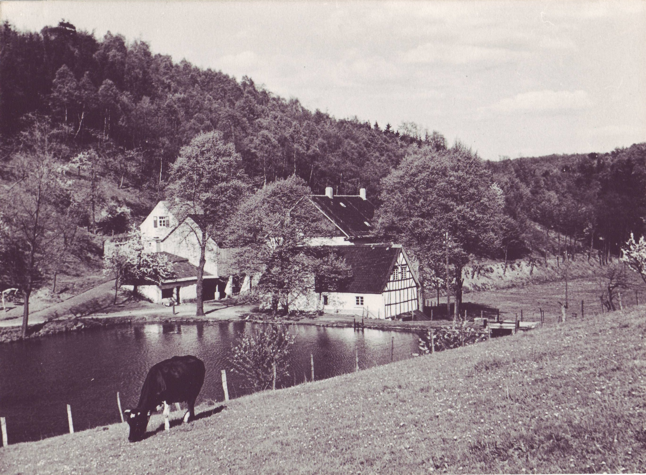Epscheider Mühle um 1940 von Gottfried Berghaus