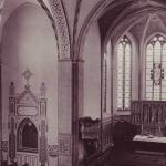 Chor der ev Kirche nach Ausmalung 1930