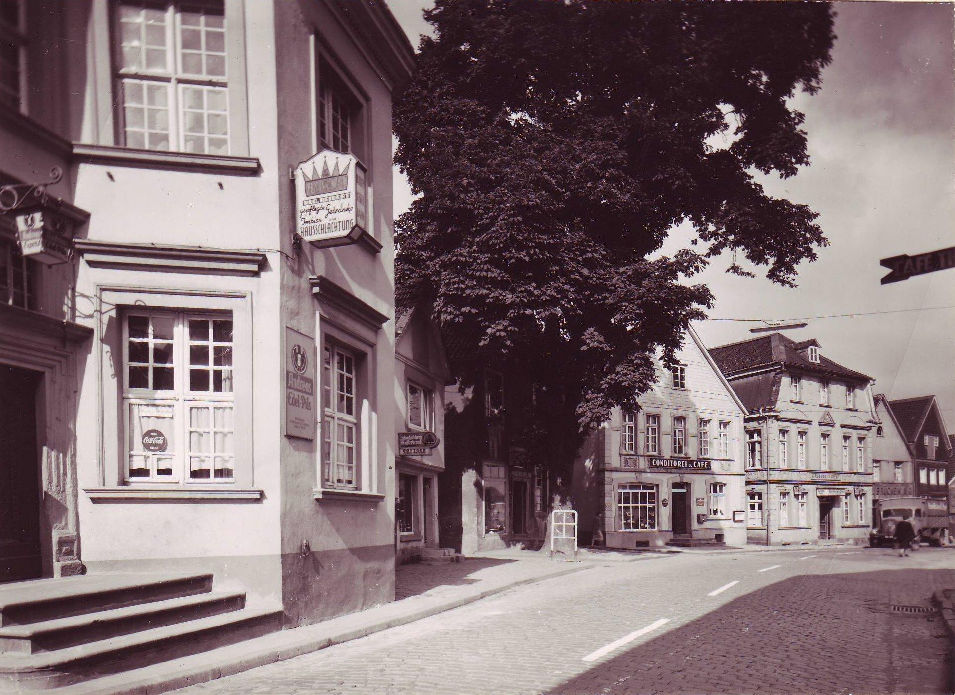 Cafe Pfingsten 1956